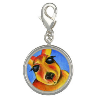 Kangaroo whimsical painting art charm