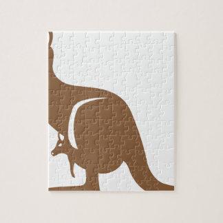Kangaroo with baby jigsaw puzzle