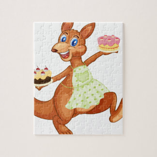 Kangaroo with cakes puzzle