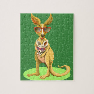 Kangaroo with glasses jigsaw puzzle