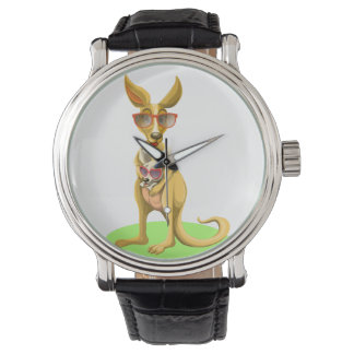 Kangaroo with glasses watch