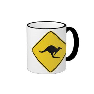 Kangaroo XING Sign Ringer Mug