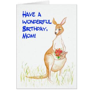 Kangaroos Birthday Card