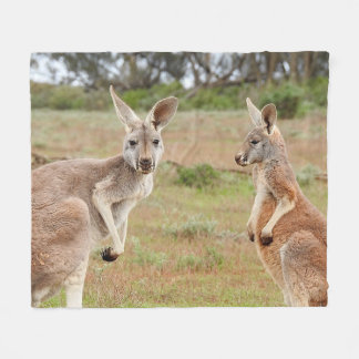 Kangaroos Fleece Blanket