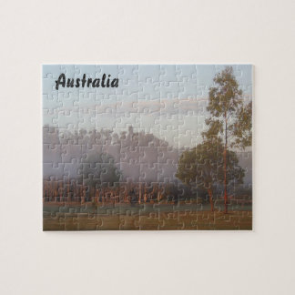 Kangaroos in the fog jigsaw puzzle