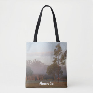 Kangaroos in the fog tote bag