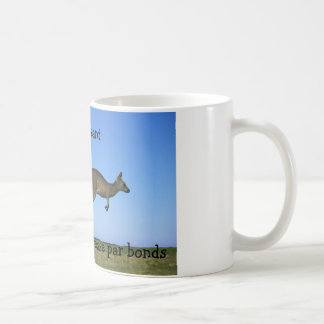 Kangaroos leaping coffee mug
