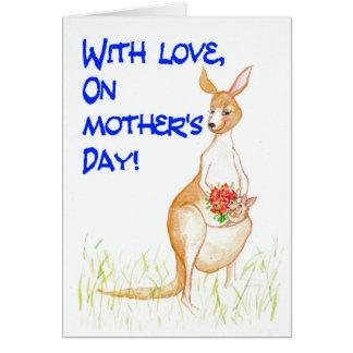 Kangaroos Mother's Day Card