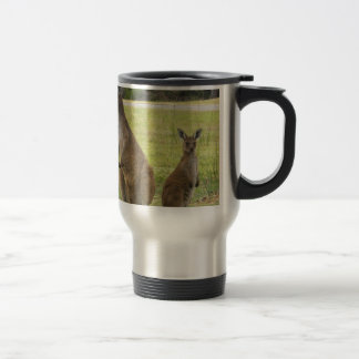 Kangaroos Stainless Steel Travel Mug