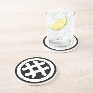 Kanji character I in circle Drink Coasters