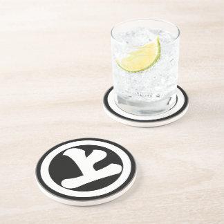 Kanji character Jo in circle Coasters