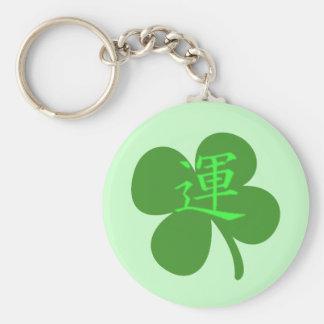 Kanji Clover Basic Round Button Key Ring