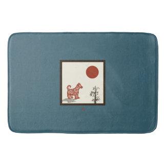 Kanji Dog Tile Bath Mats