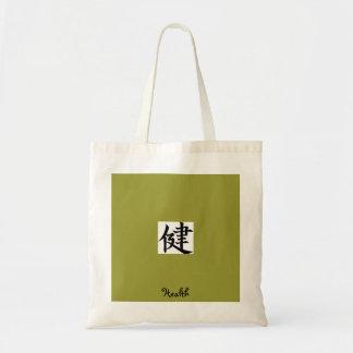 "Kanji ""Health"" Tote Bag"