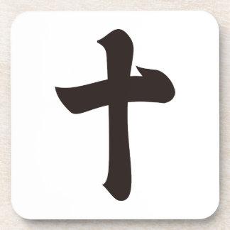 Kanji numeral ten beverage coasters