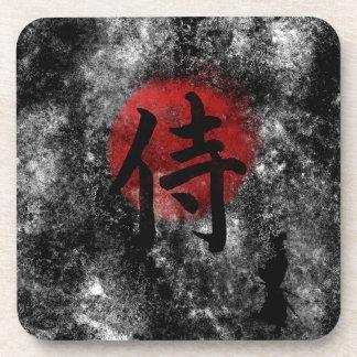 Kanji Samurai Grunge 2 Coaster