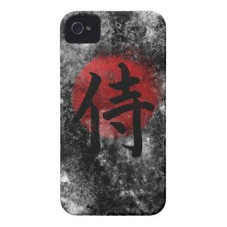 Kanji Samurai Grunge 2 iPhone 4 Case