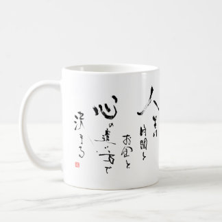 Kanji 'What is Life?' Japanese Inspirational Quote Coffee Mug