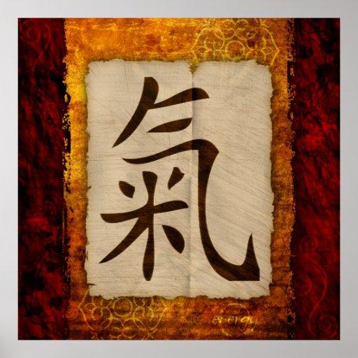 Kanji Zen Energy Posters