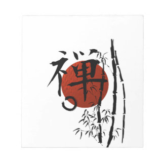 Kanji Zen with Enso and Bamboo Notepad