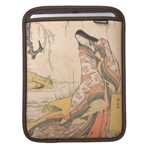 Kanjo A Court Lady Torii Kiyonaga japanese beauty Sleeves For iPads