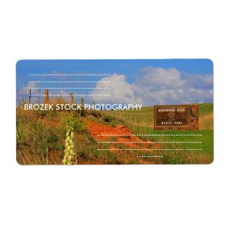Kanopolis Mushroom State Park Shipping Labels