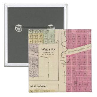 Kanopolis, Wilson, Guilford, New Albany, Kansas 15 Cm Square Badge
