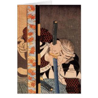 Kansaki Yagoro Noriyasu seen behind a transparent Card