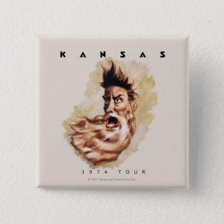 KANSAS - 1974 Tour 15 Cm Square Badge
