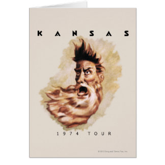 KANSAS - 1974 Tour Card