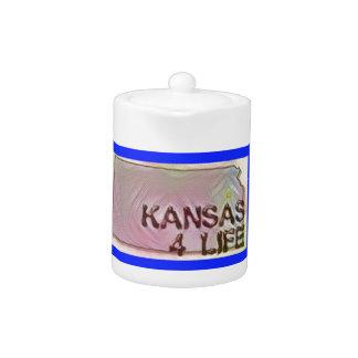"""""""Kansas 4 Life"""" State Map Pride Design"""