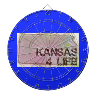 """Kansas 4 Life"" State Map Pride Design Dartboard"