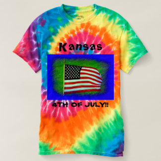 Kansas 4TH of July Tye Died T-shirt