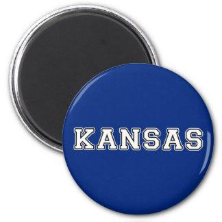 Kansas 6 Cm Round Magnet