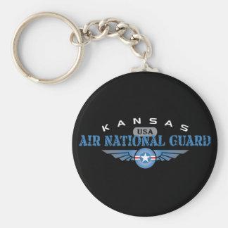 Kansas Air National Guard Basic Round Button Key Ring