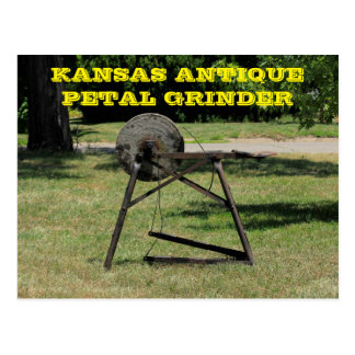 Kansas Antique Petal Grinder Post Card. Postcard