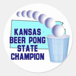 Kansas Beer Pong Champion Sticker