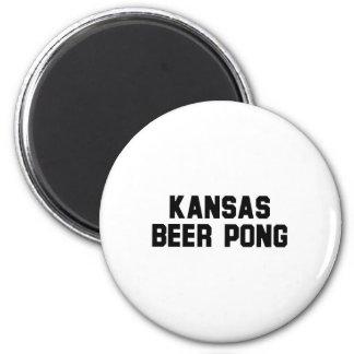 Kansas Beer Pong Fridge Magnet