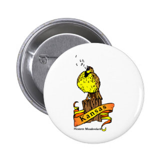 Kansas Bird Pinback Buttons