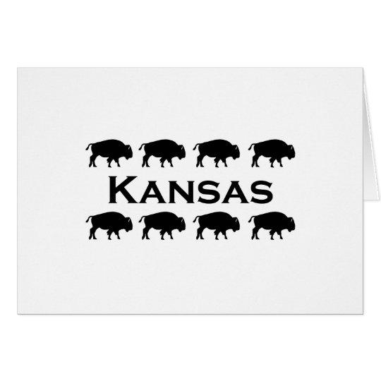 Kansas Bison Card