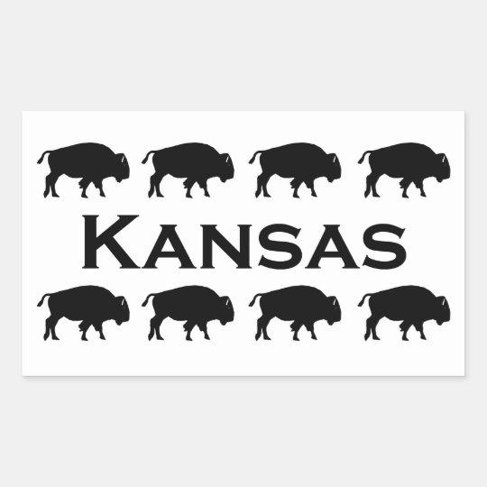 Kansas Bison Rectangular Sticker