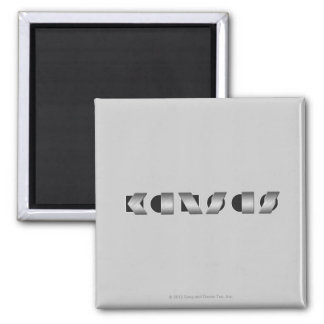 KANSAS (Black and White) Square Magnet