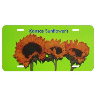 Kansas Bright Sunflower CAR TAG