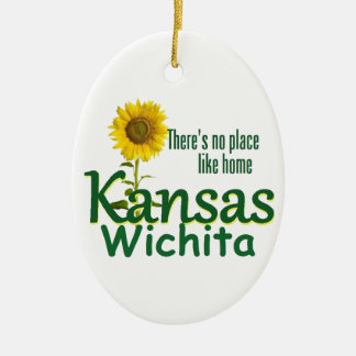 KANSAS CERAMIC OVAL DECORATION