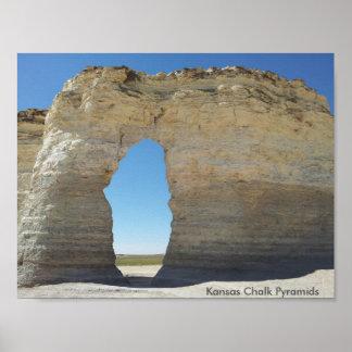 Kansas Chalk Pyramids Poster