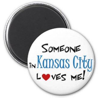 Kansas City 6 Cm Round Magnet