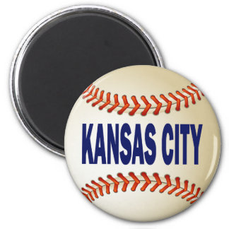 KANSAS CITY BASEBALL 6 CM ROUND MAGNET