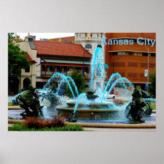 Kansas City Country Club Plaza Poster