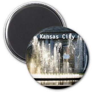 Kansas City Fountain 6 Cm Round Magnet