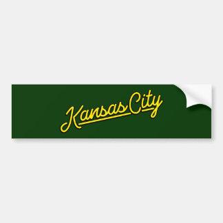 Kansas City in yellow Bumper Sticker